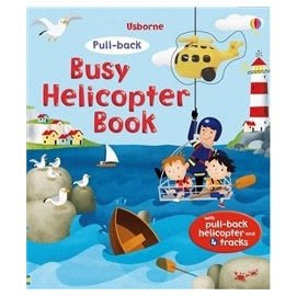 特價75折-【英國 UsBorne 遊戲書】PULL-BACK BUSY HELICOPTER BOOK~附1小直昇機