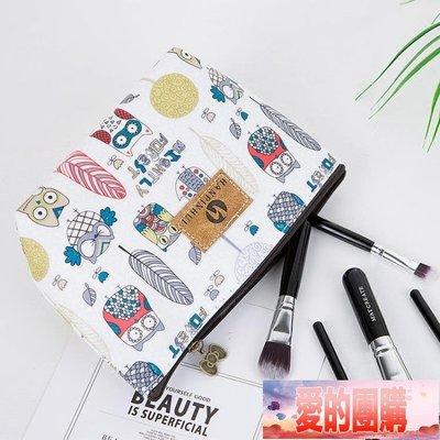 韓國化妝品包收納袋小號大容量隨身手拿防水旅行便攜卡通淑女簡約【愛的團購】