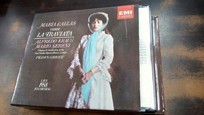 好音悅 Callas Ghione Verdi La Traviata Live1958 2CD EMI 美版無IFPI