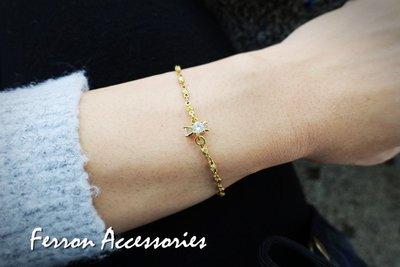 Ferron Accessories  E01 立體小花手鍊   訂製 Handmade 復古 歐美