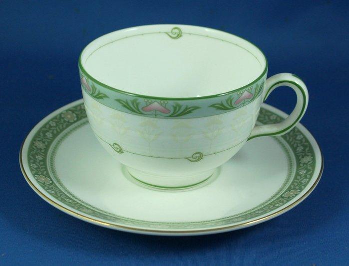 [美]英國百年名瓷MINTON骨瓷茶杯/咖啡杯二用杯盤組ELIZABETH + RONDELAY
