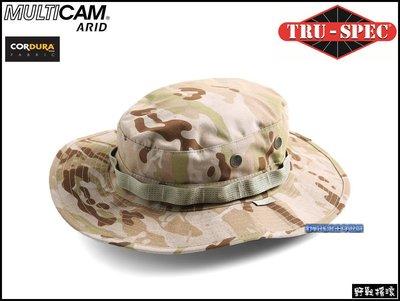 【野戰搖滾-生存遊戲】美國 TRU-SPEC 戰術圓邊帽【Multicam Arid】沙漠多地形迷彩奔尼闊邊帽圓盤帽