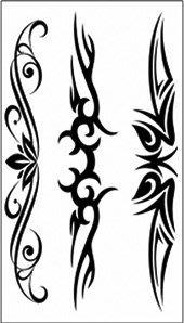 【萌古屋】綜合三黑圖騰 - 男女防水紋身貼紙原宿刺青貼紙 WM-157