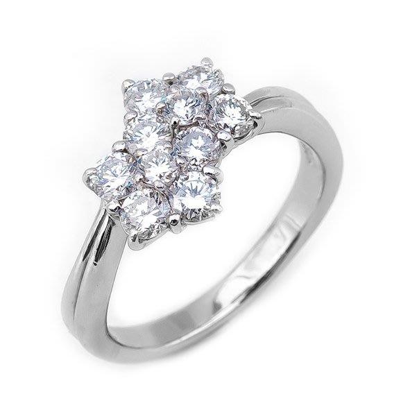 【JHT 金宏總珠寶/GIA鑽石專賣】1.00ct天然鑽石造型戒指材質:PT900(JB9-C11)