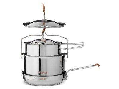 【大山野營】PRIMUS 738002 不鏽鋼鍋具組 CampFire 含煎盤 炊具組