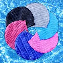 發發潮流服飾專柜品質游泳帽成人男女長髮防水護耳防滑顆粒硅膠PU泳帽游泳裝備