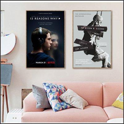 日本製畫布 電影海報 漢娜的遺言 13 Reasons Why 掛畫 嵌框畫 @Movie PoP 賣場多款海報~