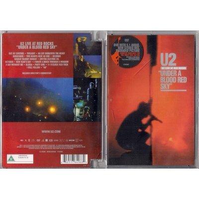 """【二手DVD】U2:""""Under A Blood Red Sky"""" / U2合唱團:血紅天空下"""