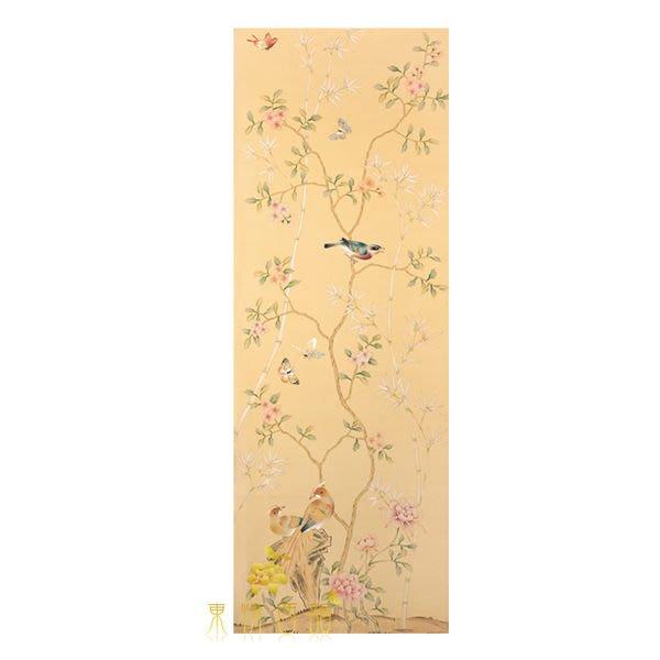 【芮洛蔓 La Romance】手繪絲綢壁紙 ZW01-007 / 壁飾 / 畫飾 / 牆紙