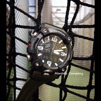 Montres Company香港註冊26年老店 泥王泥人 藍牙 計步 指南針溫度計氣壓計 登山測高 防泥 碳纖維防護 黑綠色 超大錶徑 GG-B100-1A3