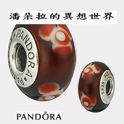 @絕版 @ {{ 潘朵拉 的異想世界 }} 丹麥 pandora Tangerine Flowers 橘花 琉璃 現貨