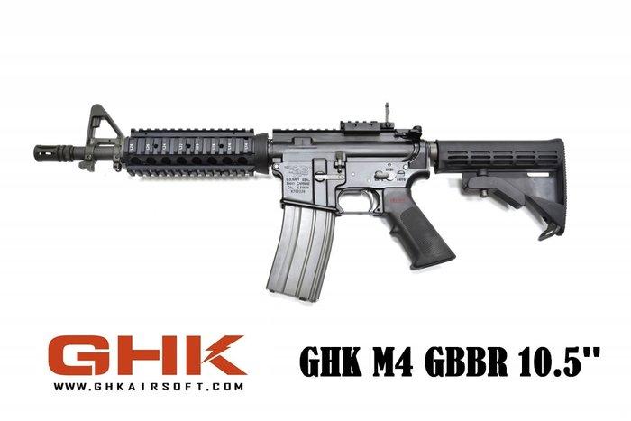 【翔準軍品AOG】GHK M4 RIS GBB VER2.0(Colt授權)10.5吋)  戰術 滑軌 步槍