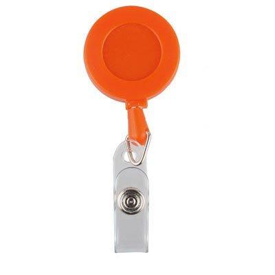 (證帶專家)空白實色伸縮扣,易拉扣,易拉得,溜溜球扣(橘色)10個