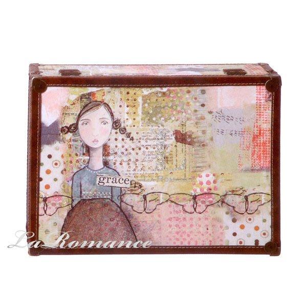 【Heart & Home】Kelly Rae Roberts 心戀家居系列少女木製儲物箱 - grace