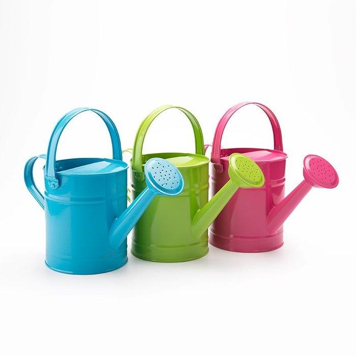 啥水壺 澆花 家用 特大 園藝鐵制大容量彩色噴壺園藝灑水壺澆花