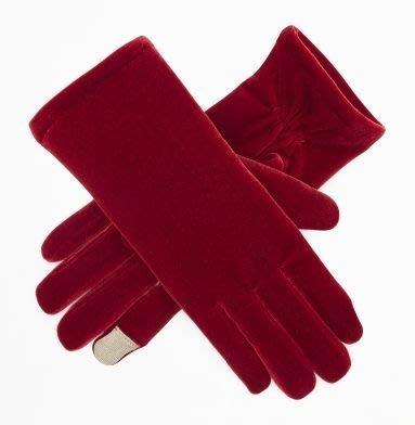 大降價!全新 Kenneth Cole 紅色絨布 3M 材質可划手機之手套,母親節情人節最佳贈禮,低價起標無底價!免運費