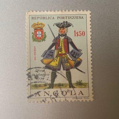 安哥拉郵票 1966 militarle uniforms from the period 1539-1876