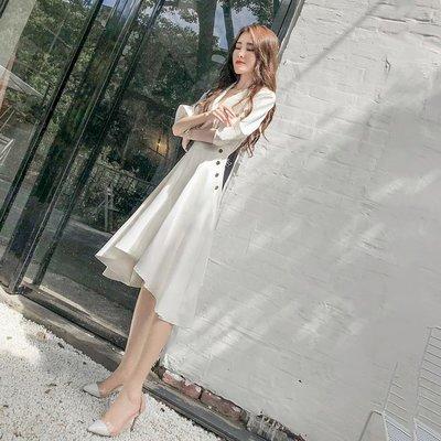 【免運】-新款女裝夏裝中長裙心機設計感...