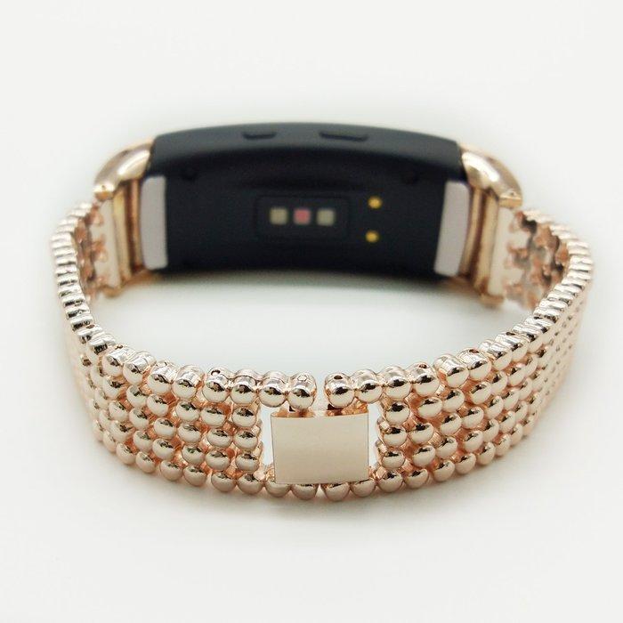 三星 Gear Fit 2 智能手環帶 R360 替換腕帶 鋼珠錶帶 金屬腕帶 商務型錶帶 時尚簡約 耐磨耐用