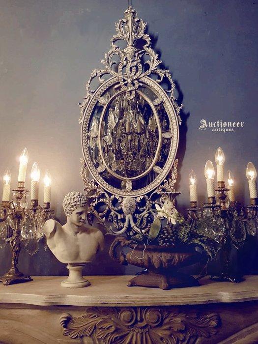 【拍賣師古董市集】歐洲古董法國掛鏡