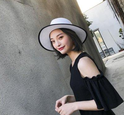 遮陽帽女草帽女太陽帽防曬帽