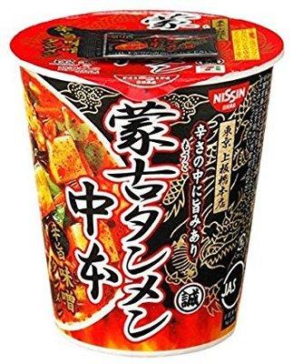 蒙古辛辣味增豆腐泡麵 重量杯118g 日本拉麵名店與日本7-11合作  愛好辛辣口味的朋友快來品嚐喔~