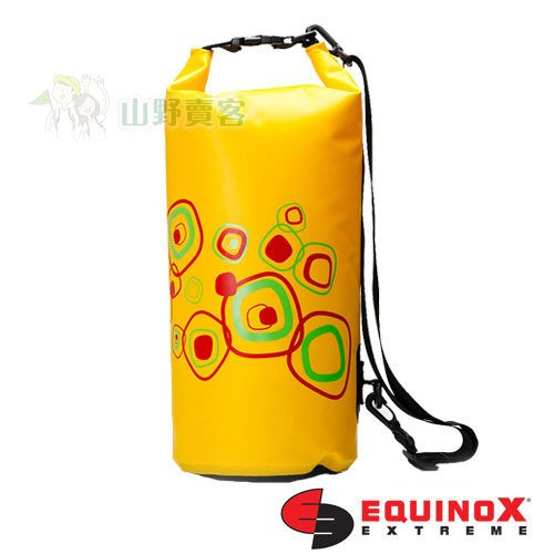 【山野賣客】EQUINOX 全天候多功能防水包 10公升幾何 黃色 防水袋 背包 收納袋 登山露營溯溪 111802