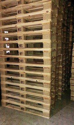 中古棧板/二手棧板/木棧板/漂亮歐式棧板 120x80 , 9成新 川字 床架 桌子 品質極優 自動倉儲 螺絲廠 設計
