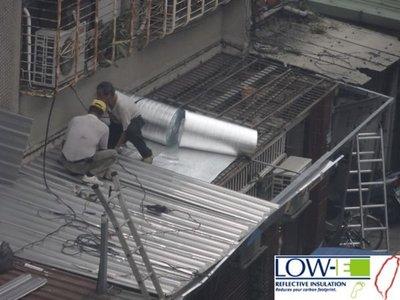 鐵皮屋頂隔熱_美國進口Low-E節能鋁隔墊_鐵皮屋頂直舖、環保、減碳、省電