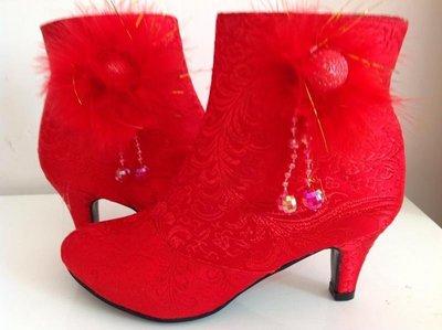 東大門平價鋪   結婚新娘紅靴子,敬酒...