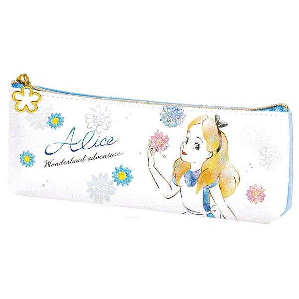【愛麗絲皮革鉛筆袋】迪士尼 愛麗絲 鉛筆袋 皮革 高質感 日本正版 該該貝比日本精品 ☆
