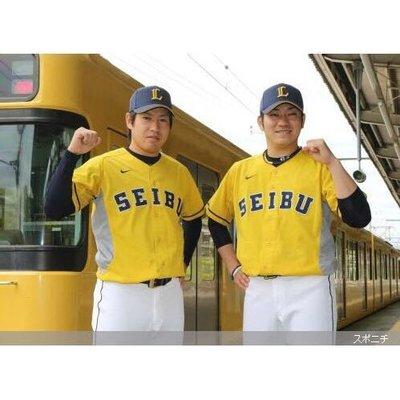 日本職棒西武獅郭俊麟西武鐵道100年紀念特典球衣~