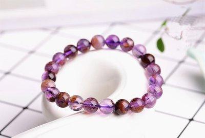 巴西紫鈦晶手串 (頭等艙精品)5A+  12mm 晶瑩剔透