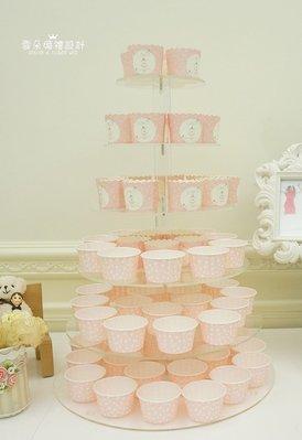 雲朵婚禮設計-租借6層蛋糕架出租/蛋糕架/candy bar蛋糕架租借/可放99個杯子蛋糕架/翻糖蛋糕架
