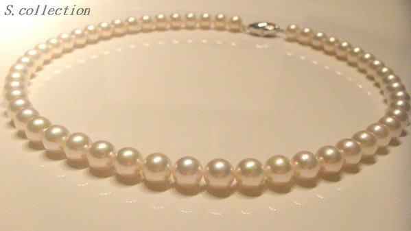 Scarlette Collection 日本頂級花珠 AKOYA 粉伴絲絹金珍珠項鍊附證  紀子妃