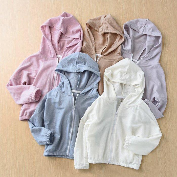 千夢貨鋪-防蚊艾草系列兒童竹纖維連帽防曬衣防蚊空調衫男童女童薄款外套