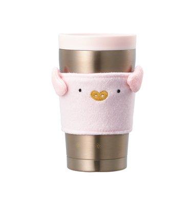 ☆STARBUCKS☆韓國星巴克 豬年粉紅小豬杯套金色不鏽鋼保溫杯 非膳魔師 800+1標