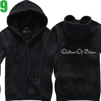 Children Of Bodom【死神之子】連帽厚絨長袖重金屬搖滾樂團外套(共5種顏色可選) 購買多件多優惠【賣場三】