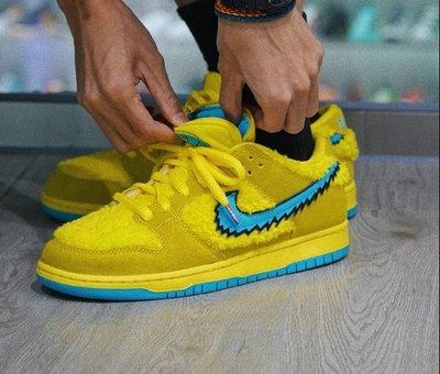 Nike SB Dunk x Grateful Dead 聯名 黃藍 跳舞小熊 潮流滑板鞋 CJ5378-700 男女鞋