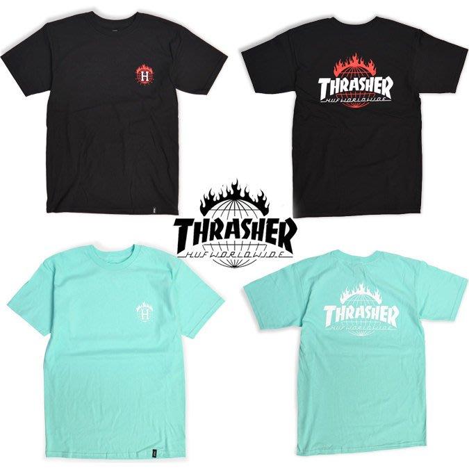 【超搶手】 全新正品 聯名 HUF x THRASHER TDS TEE 火焰LOGO短袖T S M L XL XXL