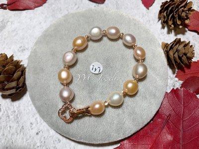 【YYC Jewelry】淡水珍珠 橢圓 手鏈 #P37