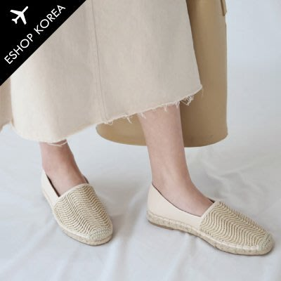 韓國空運【PA879-2】韓國空運自然色酒椰草編鞋
