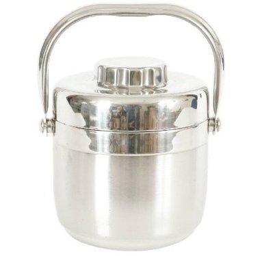 Recona日式304不鏽鋼保溫提鍋 雙層真空 手提湯飯盒 不銹鋼保溫提鍋 便當盒 創意飯盒 日式分格湯飯盒~曼活~