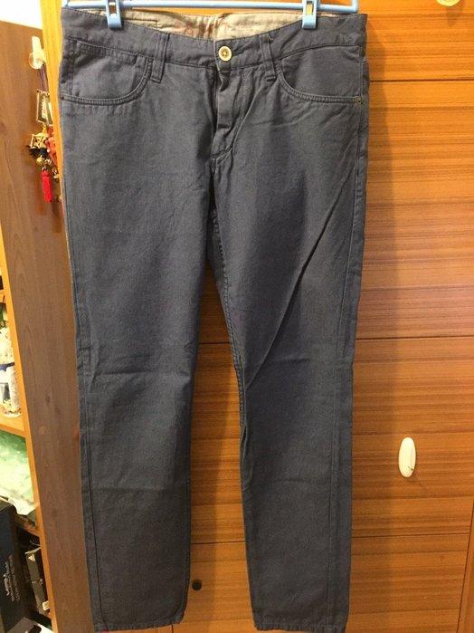 ESPRIT 純棉窄管休閒褲 藍