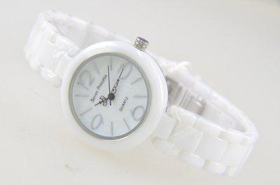 (六四三精品)Seven Princess錶徑3.1公分.高檔陶瓷錶殼及錶帶.時.分.秒大三針功能精準錶!女