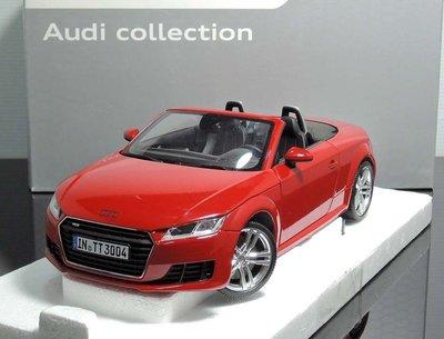 【MASH】現貨瘋狂價 Minichamps 1/18 Audi TT Roadster 2014 red