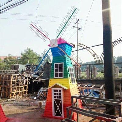 荷蘭風車 鐵藝風車 園林景觀風車戶外大型花海擺件裝飾田園雕塑小豬佩奇