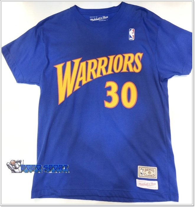 *dodo_NBA  進口 mitchell & ness NBA 號碼TEE CURRY 勇士 藍