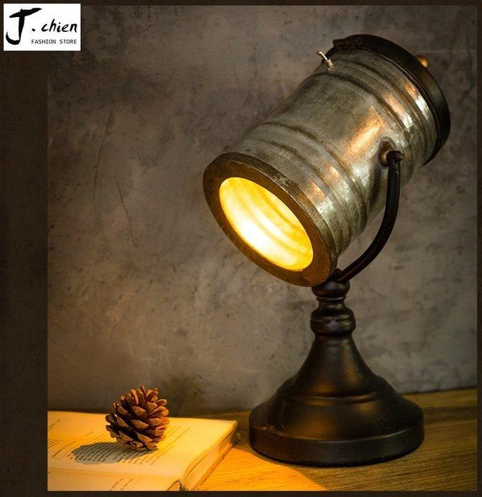 J.chien ~[全館免運]復古鐵器燈具 工業風 鐵藝燈擺設 餐廳擺設 家具擺設 裝飾道具 燈具咖啡廳擺設 (小)
