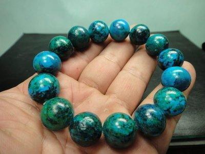 【競標網】天然罕見漂亮蘇聯綠藍寶石手珠14mm(回饋價便宜賣)限量10組(賣完恢復原價250元)